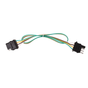 Trailer Light Wiring Harness Extension 4-pin Plug 18 Awg Flat Wire on wire leads, wire sleeve, wire lamp, wire antenna, wire ball, wire clothing, wire nut, wire holder, wire connector, wire cap,