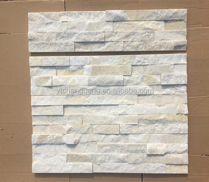 White Quartzite Interior Decoration Wall Cladding Tile Panels, stone wall decor ledge stone