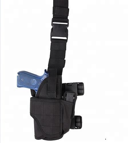 MILITARY TACTICAL ADJUSTABLE LEG PISTOL HOLSTER CORDURA AIRSOFT WEBBING BLACK