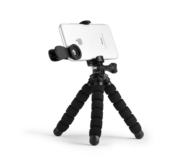 3 in 1 Clip-On phone Lens Kit with Smartphone Tripod Go-pro, Bluetooth Remote Shutter