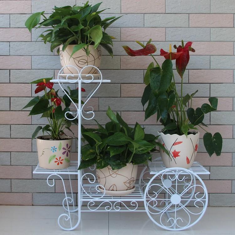 Bicycle maceta porta vasos de metal hierro forjado - Maceteros colgantes para balcones ...