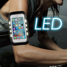 Promotion Colorful Armband Cellphone Led Lighted Lightweight Arm Band Case