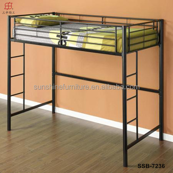 metal loft bed with desk. Black Bedroom Furniture Sets. Home Design Ideas