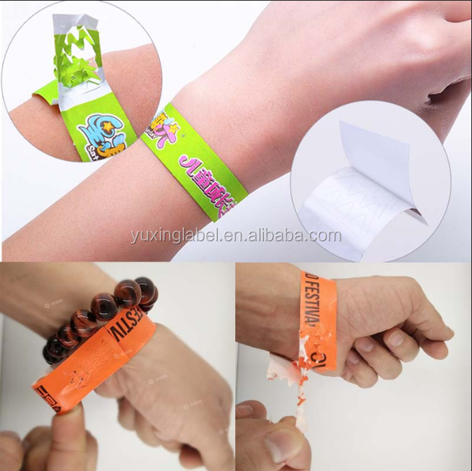 free custom cheap Tyvek wristband manufacturers
