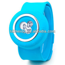 2013 fashion silicone jelly slap watch silicone slap wrap watch