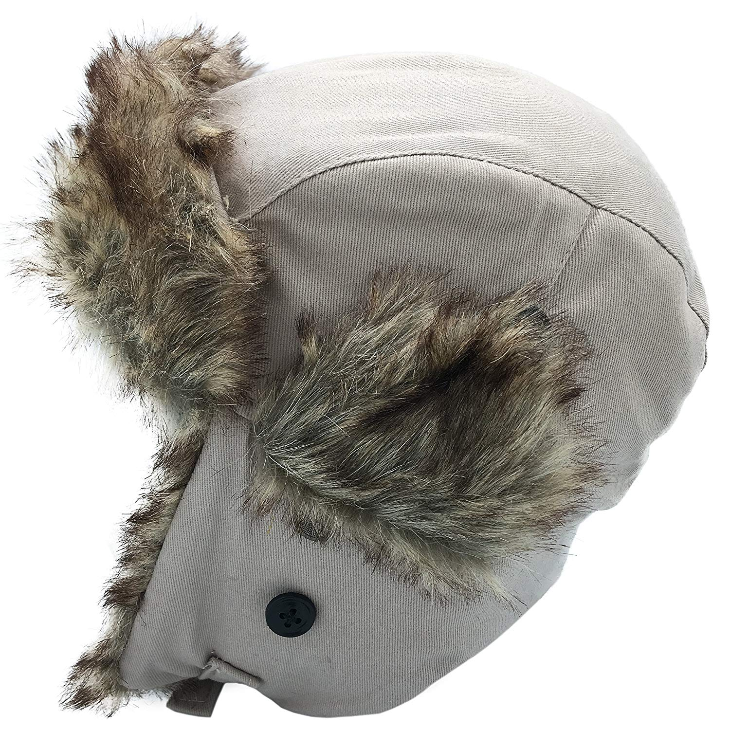 e1a5410edcf Get Quotations · Dboa Winter Faux Fur Fishing Trapper Hat