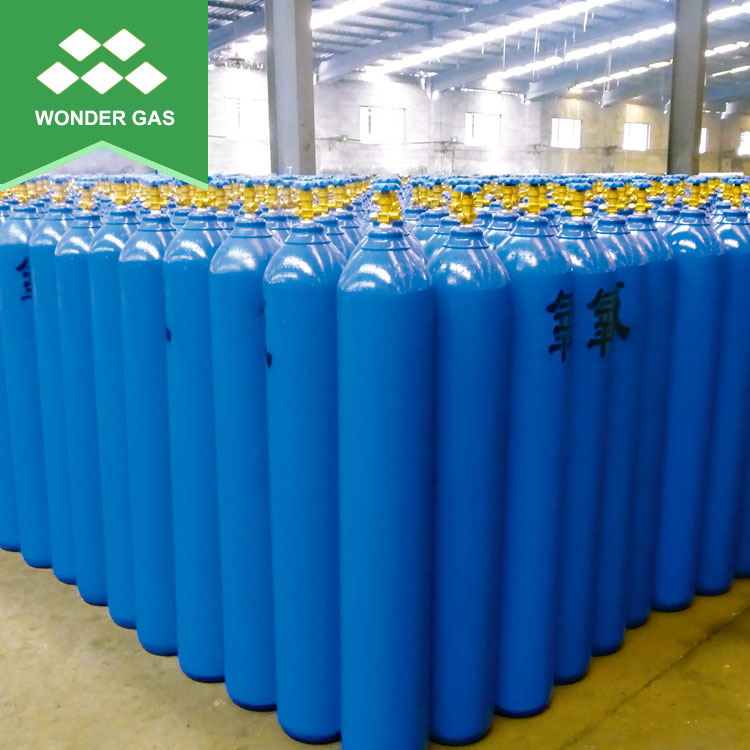 Bottom Price 37Mn 219Mm-50Liter-150Bar 60Kg Oxygen Argon Co2 Nitrogen Cylinders
