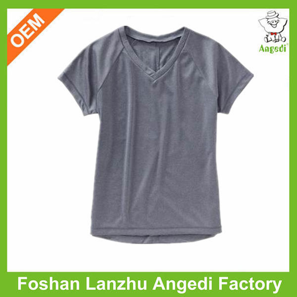 Kids v-shape collar t-shirt clothing suppliers for boutiques
