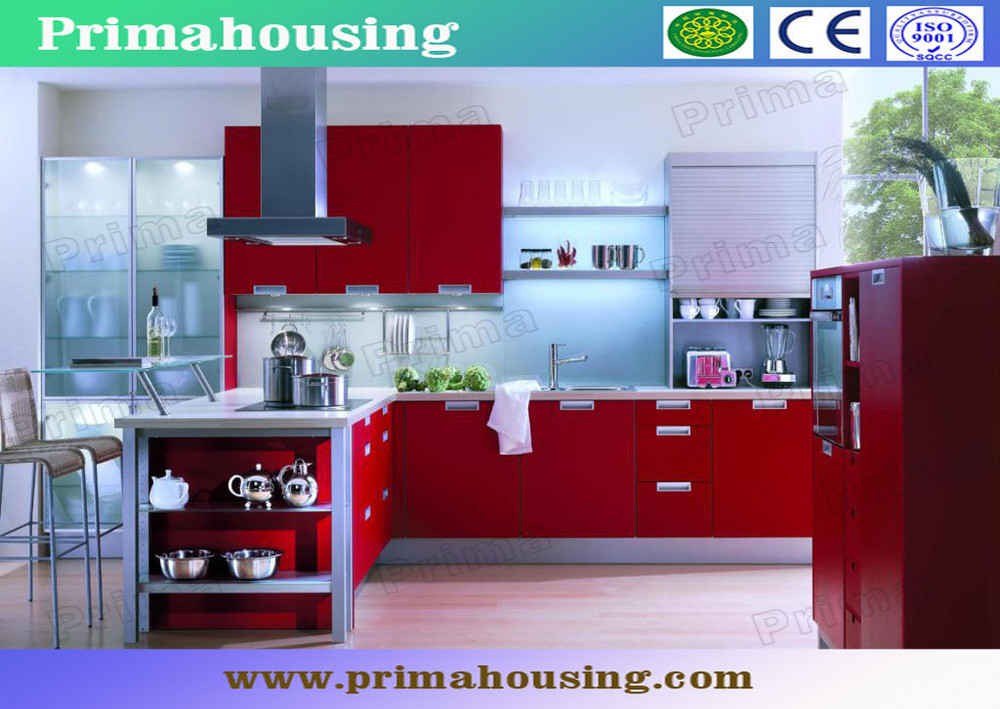 2015 High Gloss Lacquer UV Acrylic Kitchen Cabinet Manufacture