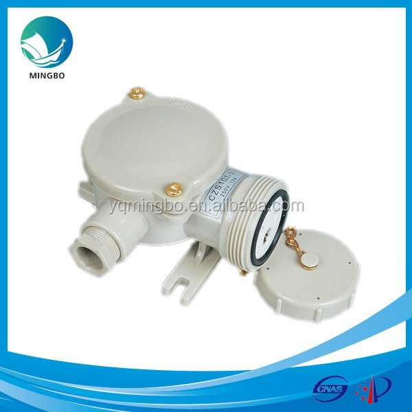 230v plastic switch marine industrial electrical power outlet CZS101
