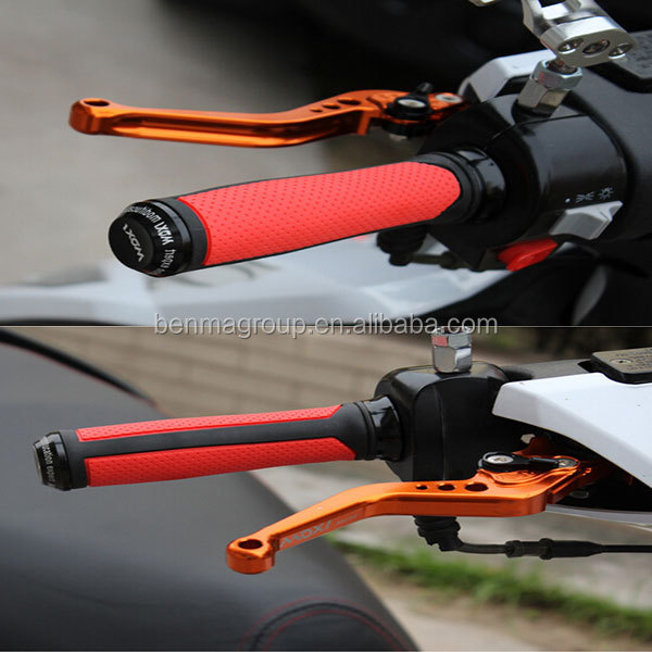 "7/8"" 22mm motorbike red handlebars cnc hand grips hot sale"