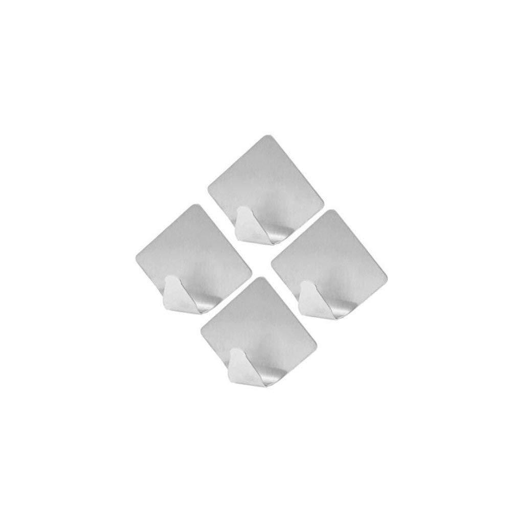 FILIWI 3M Adhesive Hooks,Stainless Steel 3M Self Adhesive Command Hooks Hangers,Idea for Bath Kitchen Garage Heavy Duty Wall Mount Coat Towel,Keys,Bags,Hanging,Set of 8(Rhombus )