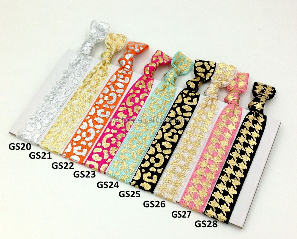 "Custom Printed Fold Over Elastic Hair Tie 5/8"" FOE Elastic Hair Band Custom Headwear Girls Ponytail Holder Hair Accessories"