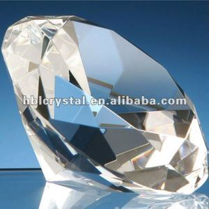 Shining crystal diamond paperweight for wedding gift
