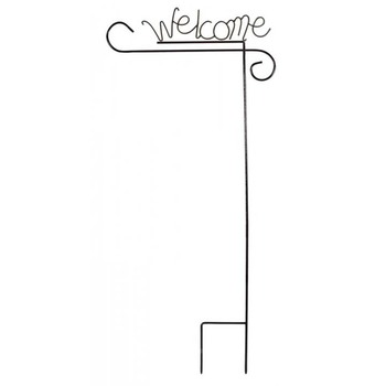 Wholesale Cheap Customized Strong Welcome Letter Metal Yard Flag Pole  Garden Flag Stands