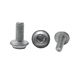 Round head screws and bolts nuts washers and internal triangle