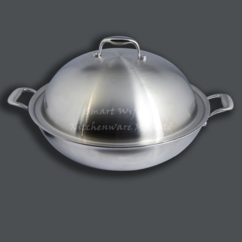 Best Kitchenware Stainless Steel Wok Pan