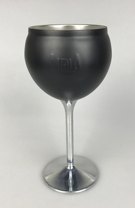 Amazon double wall stainless steel wine glass with lid