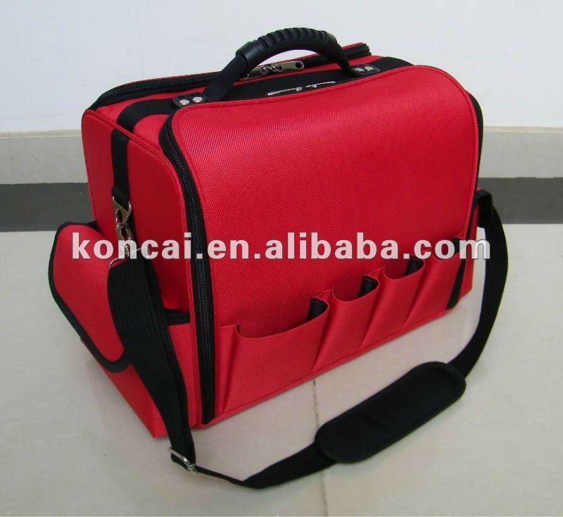 soft nylon cosmetic bag,nylon cosmetic case, nylon makeup cases & bags with removalable two-tiered tray box inside