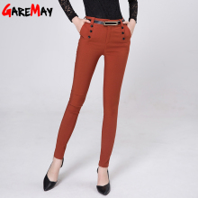 Sign # 2015 Spring 6001 new women casual pants waist trousers OL female feet pants , pencil pants Korean