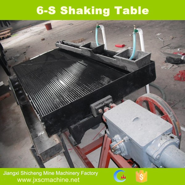 China manufacturer gravity palladium concentrate shaking table