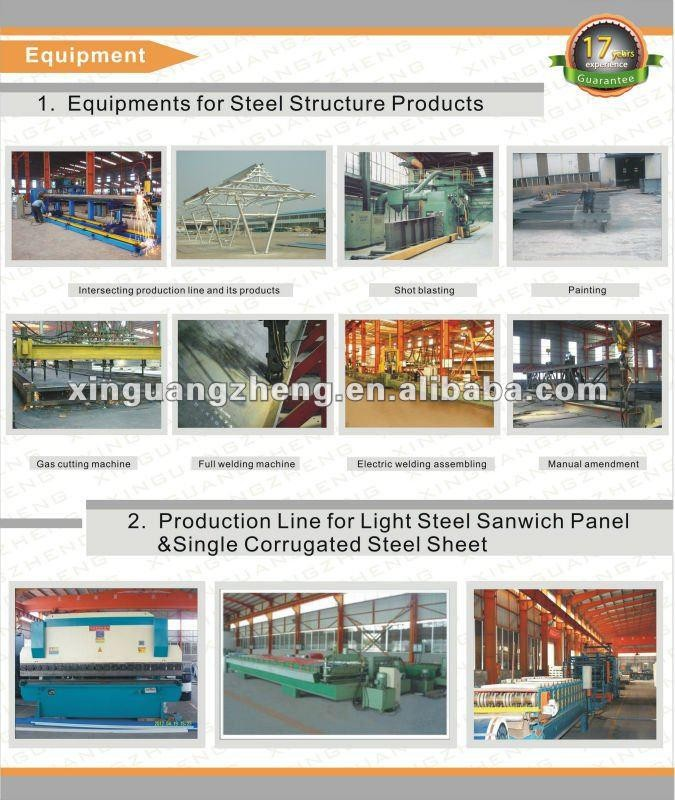 iso certificate steel structure warehouse