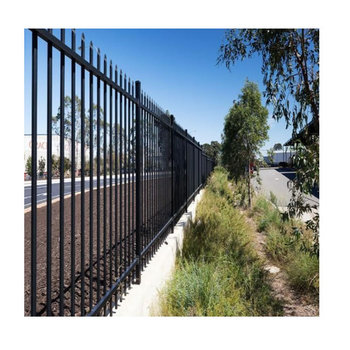 Decorative panel steel fence galvanized Powder coated used wrought iron fencing Aluminium fencing