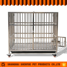 Large Stainless Steel Acrylic Modular Dog Cage With Wheels For Sale Cheap