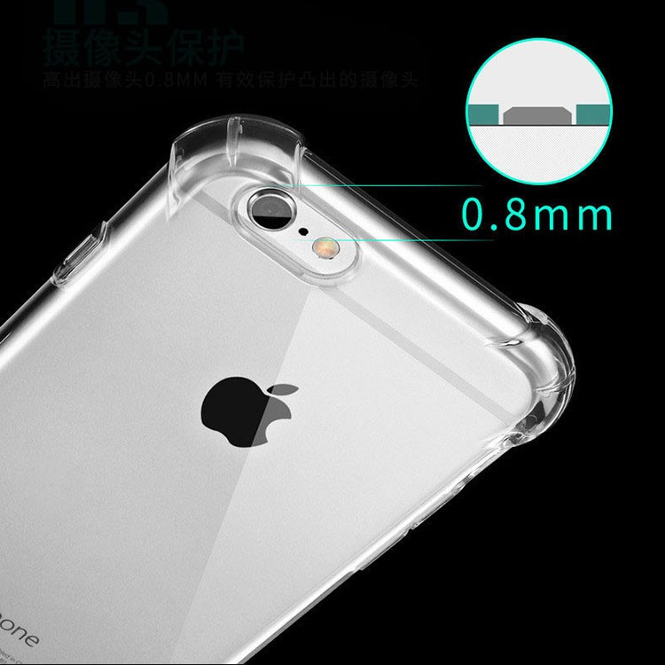 Mobile accessories for Iphone7 case tpu transparent colorful mobile phone cover with airbag corner protective