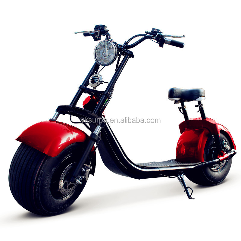 new design 1000w 60v12ah lithium battery citycoco electric scooter/electric scooter parts