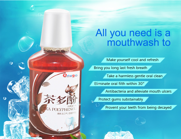 Natura Herbal Private Label Mouthwash Oral Care Fresh Flavored Protect Mouth Wash