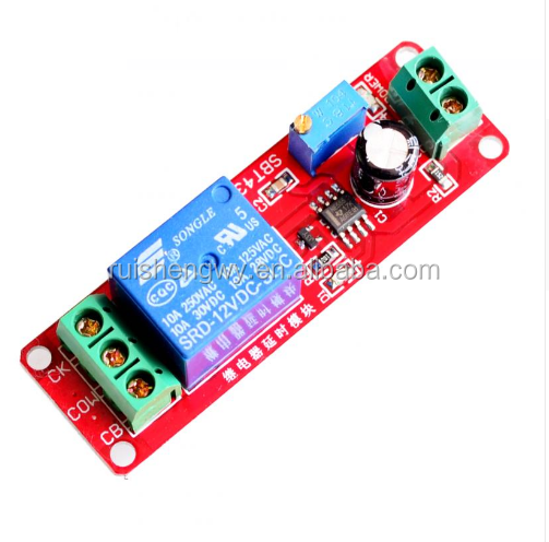 DC 12V Delay relay shield NE555 Timer Switch Adjustable Module 0~10S