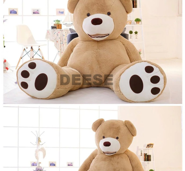2f5c56b2bf1 Factory price 340cm USA Teddy bear skin Giant Luxury Plush Extra Large  Teddy Bear cost - Dark Brown - Light Brown