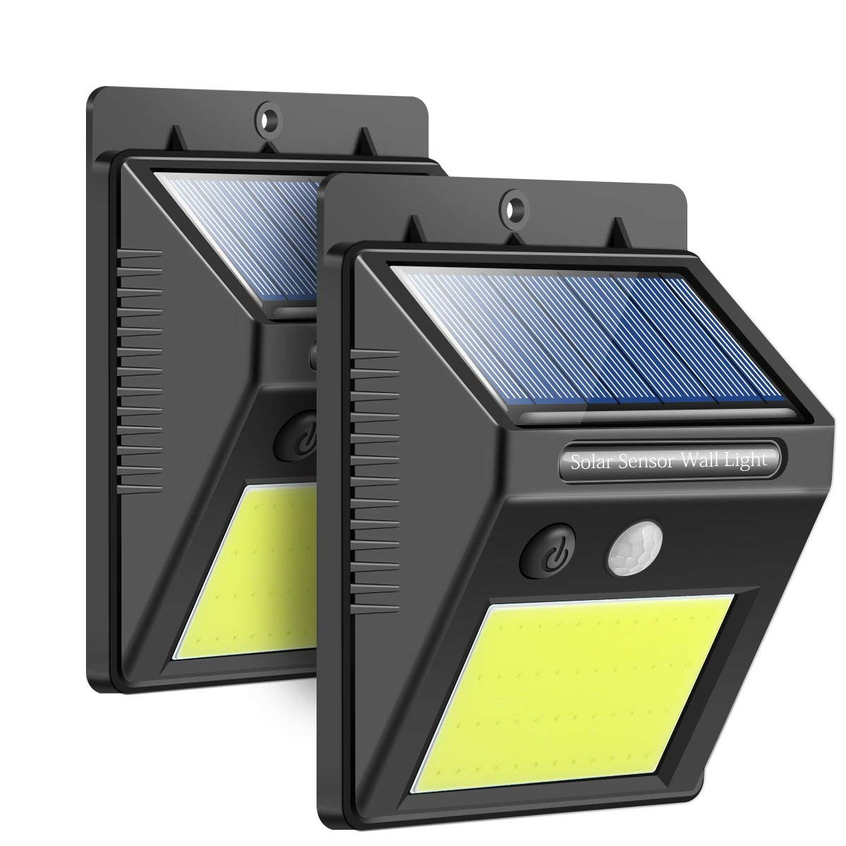 [Upgraded] Solar Lights Outdoor, Waterproof Wireless 48 LED Solar Motion Sensor Wall Light Security Night Lighting with Easy Install for Patio, Deck, Yard, Garden, Fence, Driveway, Garage(2-Pack)