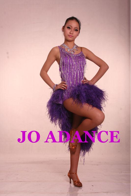 Vestido De Baile Latino Competencia Falda De Baile Latino Medias ...
