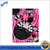 Lovely animal shaped cartoon painting leather case for ipad 2 3 4