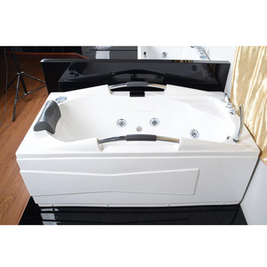 ECO-friendly hot tub with jets cheap oval bathtub freestanding ABS bathtub
