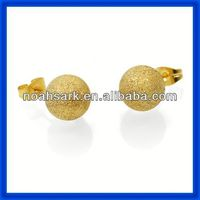 Hot selling factory price ball stainless steel earrings stud wholesale