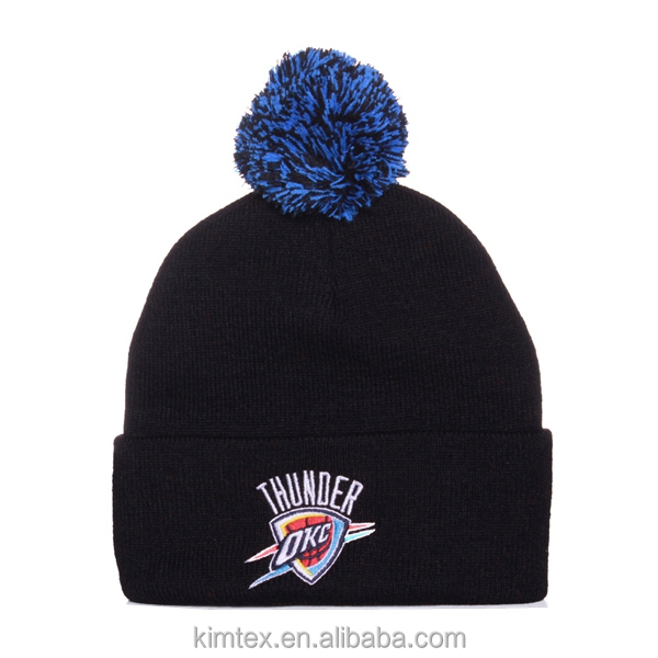 Fashion winter acrylic custom knitted toque
