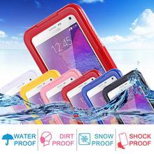IP-68 Underwater Clear TPU Water/Dirt/Shock Proof Swimming Dive Case For Samsung Galaxy Note 4 N9100 Note 3 N9000 Note 2 N7100