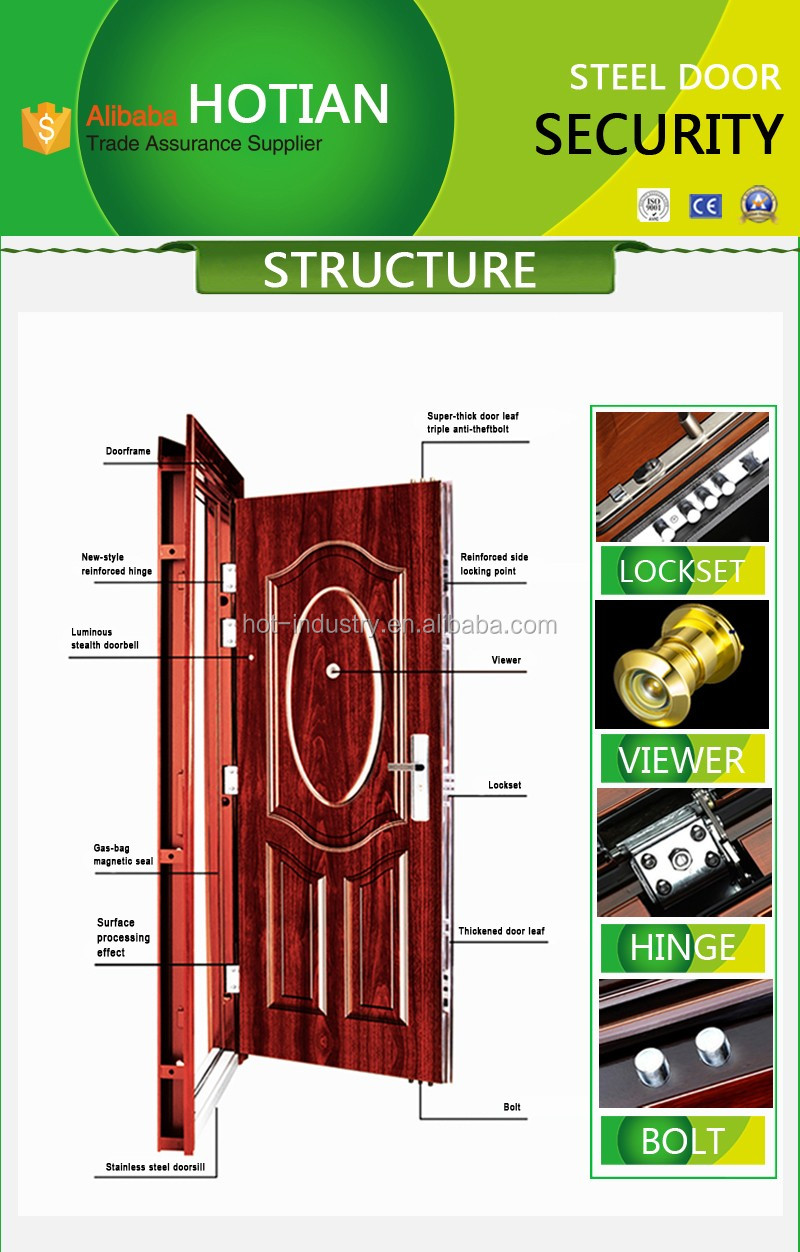 Wrought iron latest main gate designs building construction steel safety door design