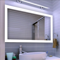 Five Star Hotel Bathroom Decorative LED Illuminated Backlit Mirror With Defogger