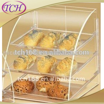3 Tier Acrylic Bakery Display Case,Perspex Food Display Cabinets ...