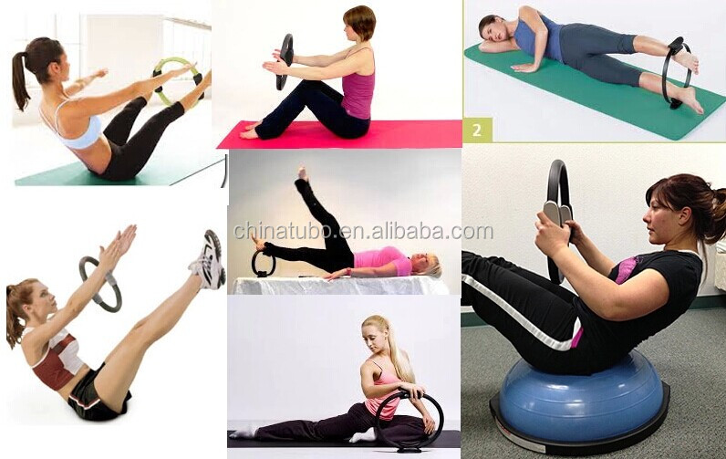 Yoga Exercise Dual Grip Pilates Resistance Fitness Ring
