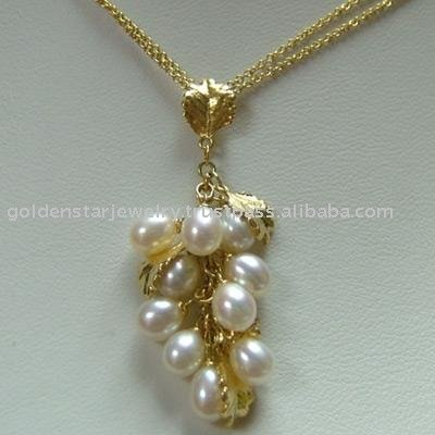 18k yellow gold pearl pendant with 16 chain buy pearl necklaces 18k yellow gold pearl pendant with 16 chain buy pearl necklaces product on alibaba mozeypictures Choice Image
