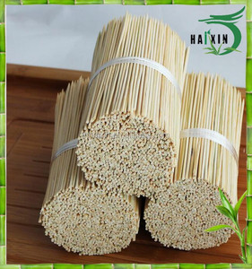 Wholesale High Grade A Round bamboo skewer model#2520 diameter 2.5 mm length 20cm for Indonesia