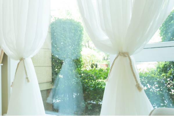 Curtain ready made wedding voile sheer curtain
