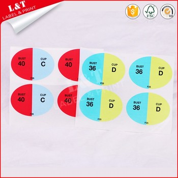 Print Letter Size Label Paper Stickers For Shirts Colthes