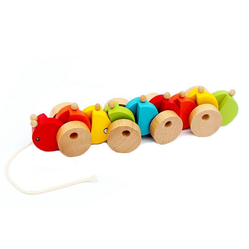 Walter Wooden Toy Caterpillar Pull Toy japan import