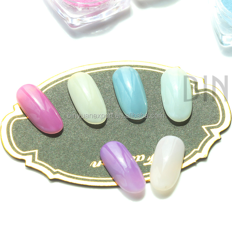 BIN Newest nail powder 6colors available Photochromic Pigment for nails